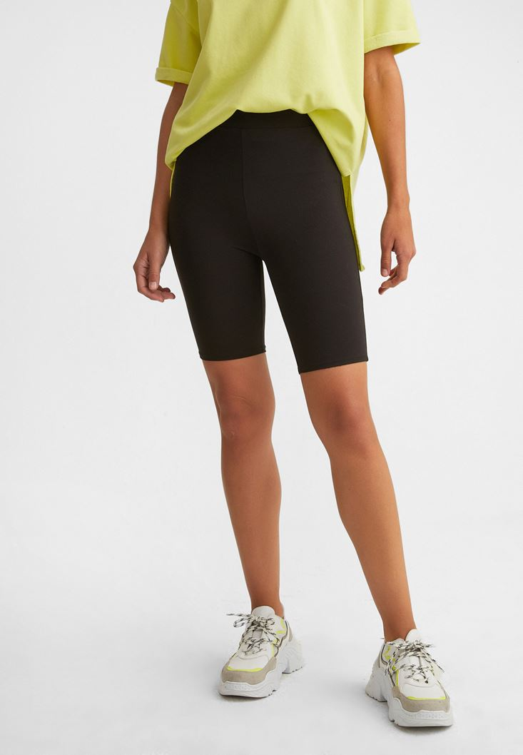 Black Short Cycle Leggings