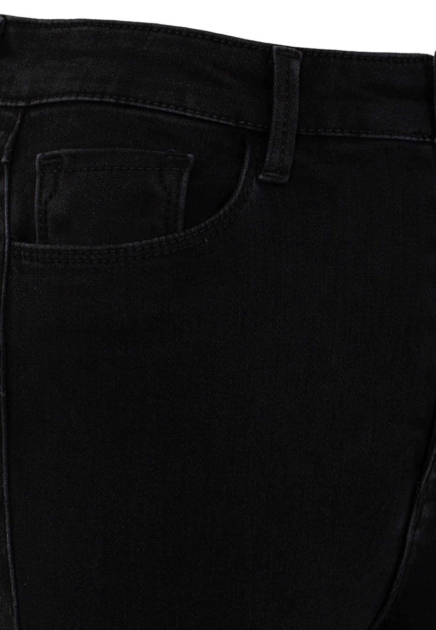 Bayan Siyah Yüksek Bel Skinny Kot Pantolon
