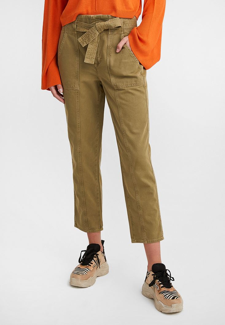 Green Belted Cargo Pants