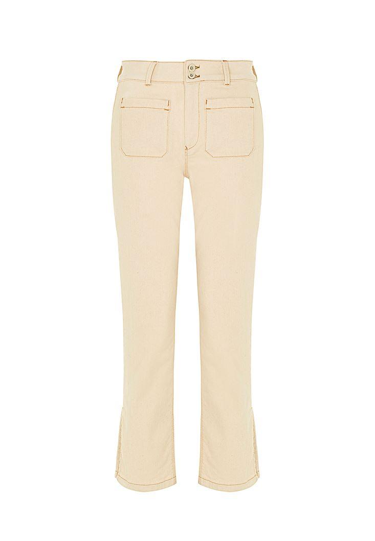 Yüksek Bel Crop Straight Jean
