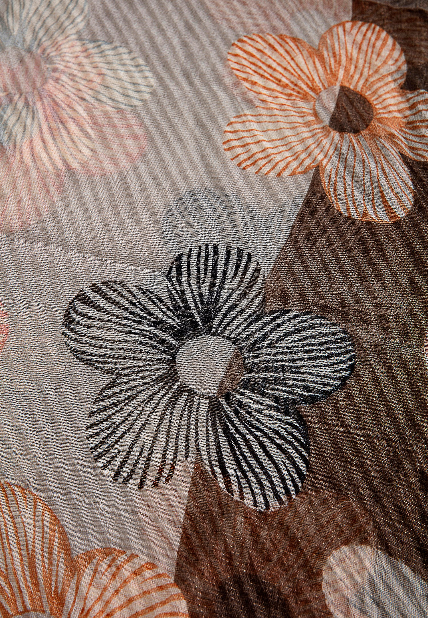 Bayan Çok Renkli Çiçek Desenli Şal