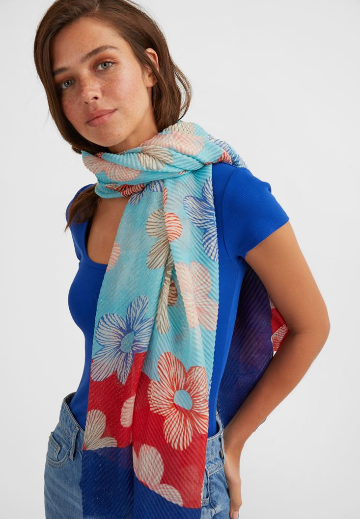 Mixed Floral Printed Scarf