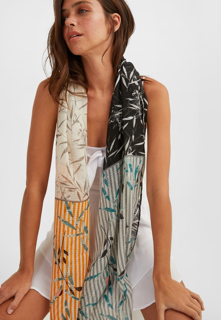 Mixed Patterned Scarf