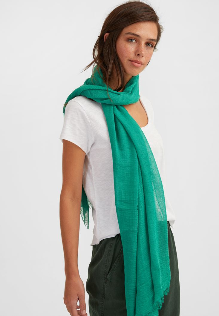 Green Long Scarf