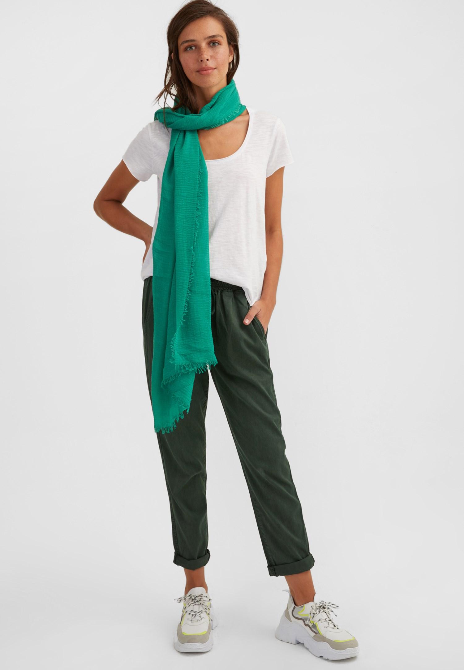 Bayan Yeşil Uzun Şal
