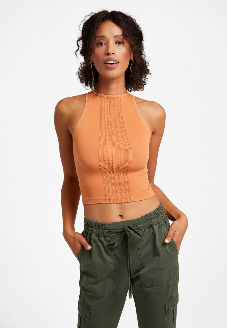 Orange Seamless Top