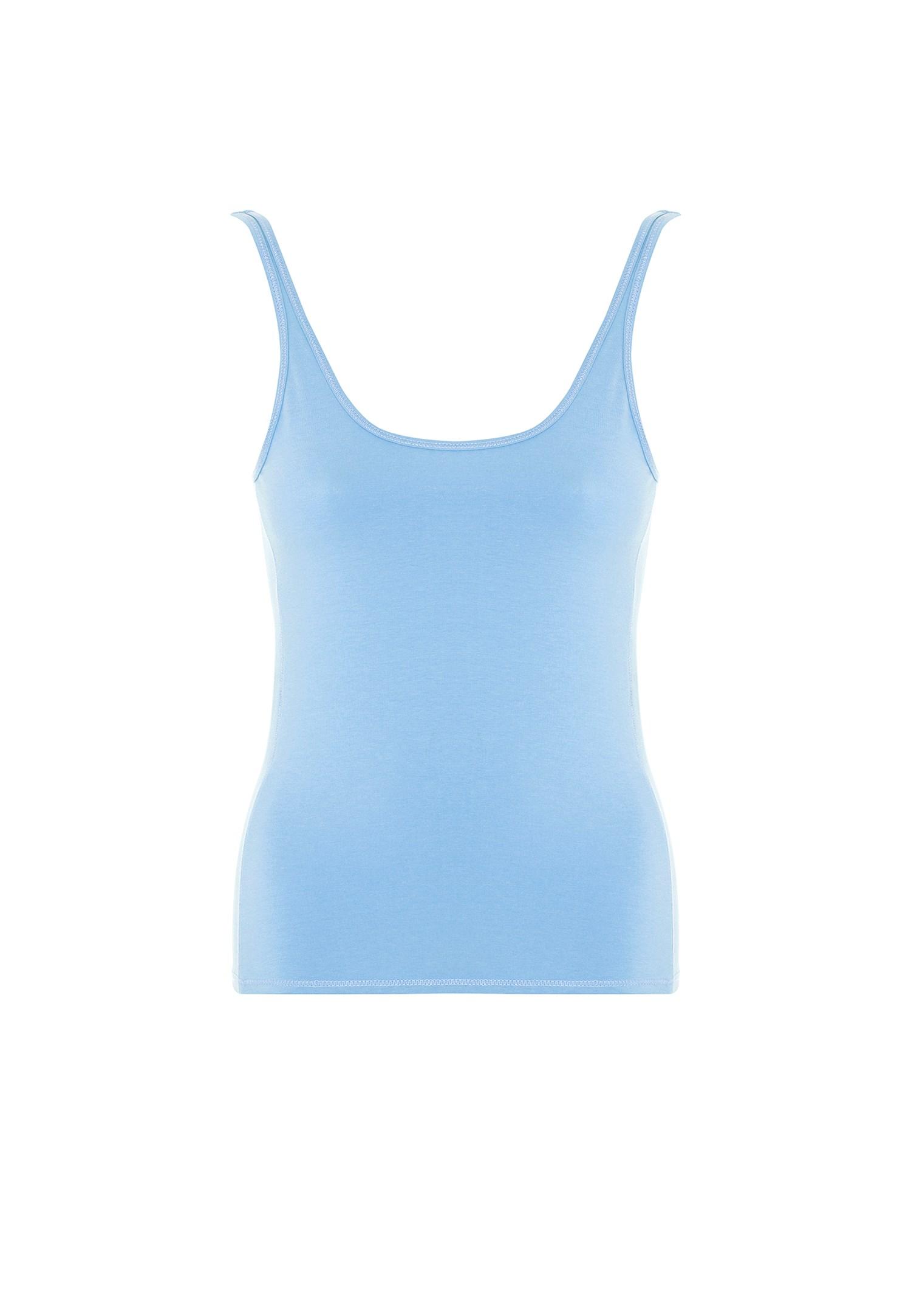 Bayan Mavi İnce Askılı Atlet
