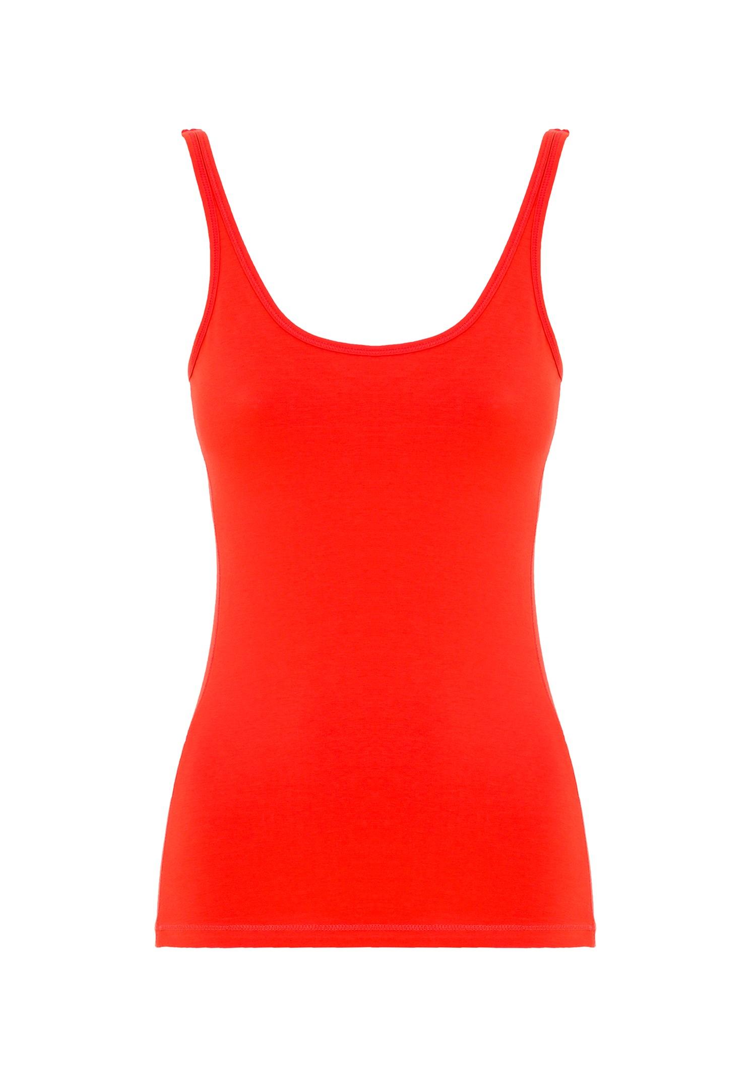 Bayan Kırmızı İnce Askılı Atlet
