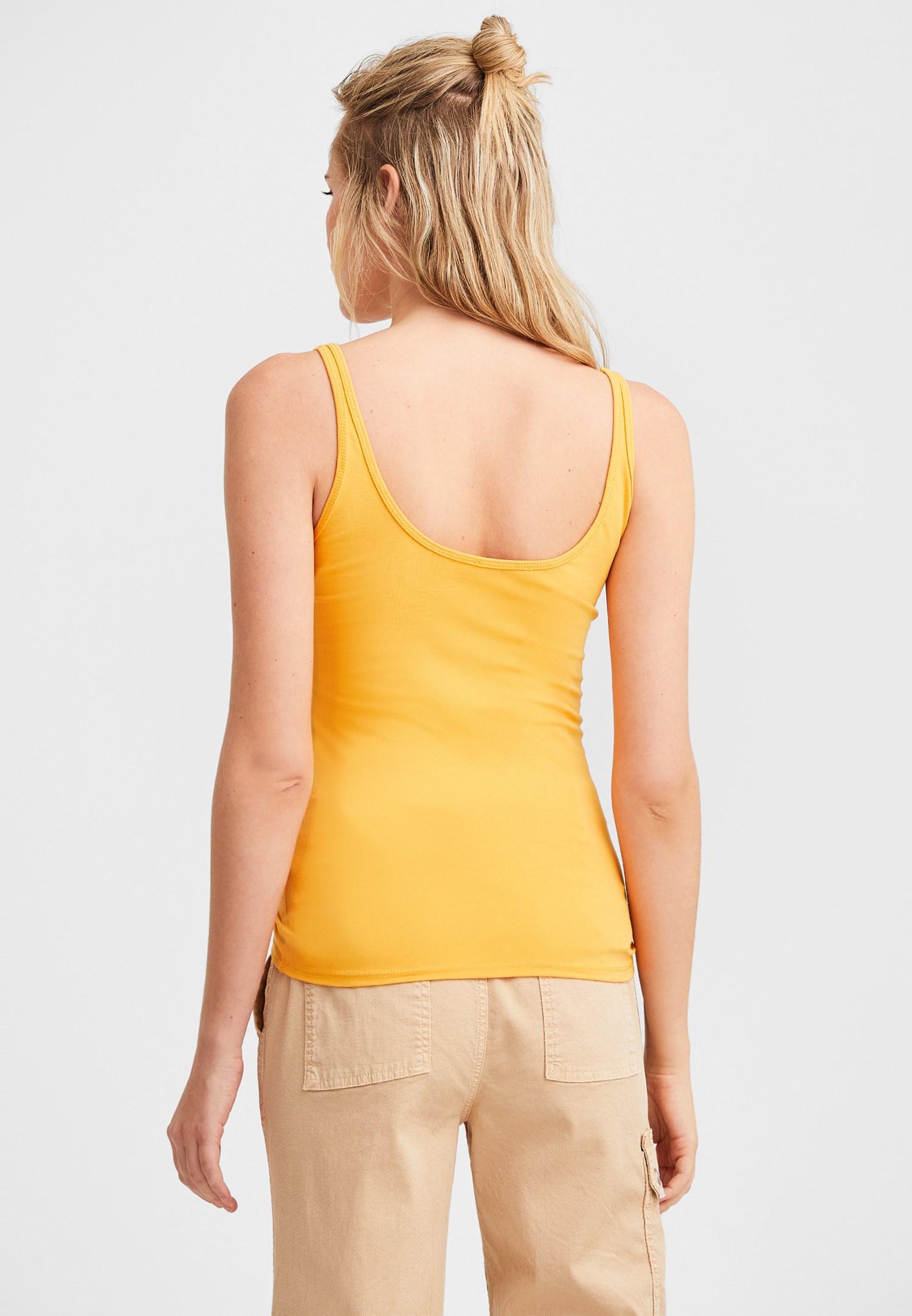 Bayan Sarı İnce Askılı Atlet