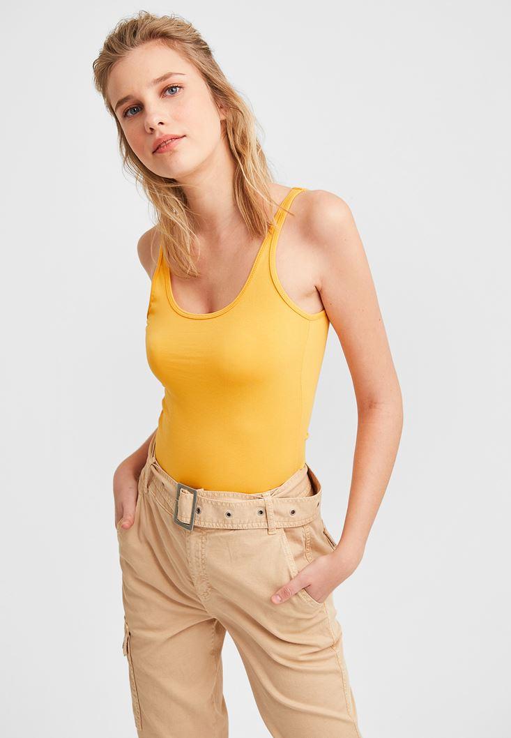 Orange Basic Top