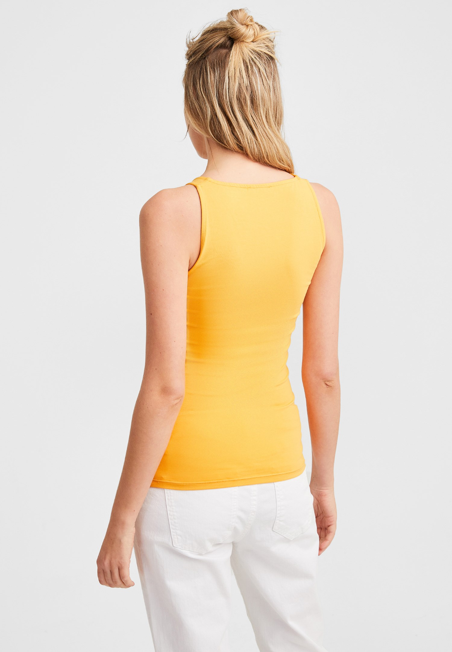 Bayan Sarı V Yaka Kalın Askılı Atlet