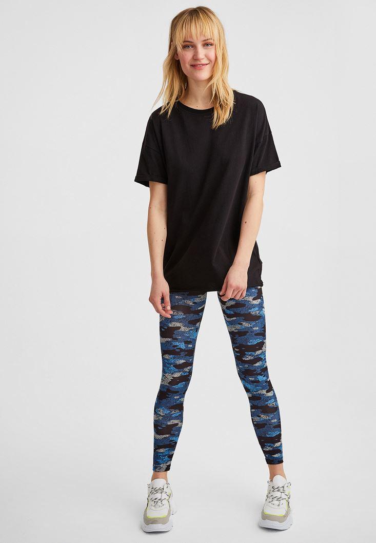 Siyah Oversize Basic Tişört