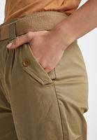 Bayan Yeşil Kemerli Yüksek Bel Kargo Pantolon
