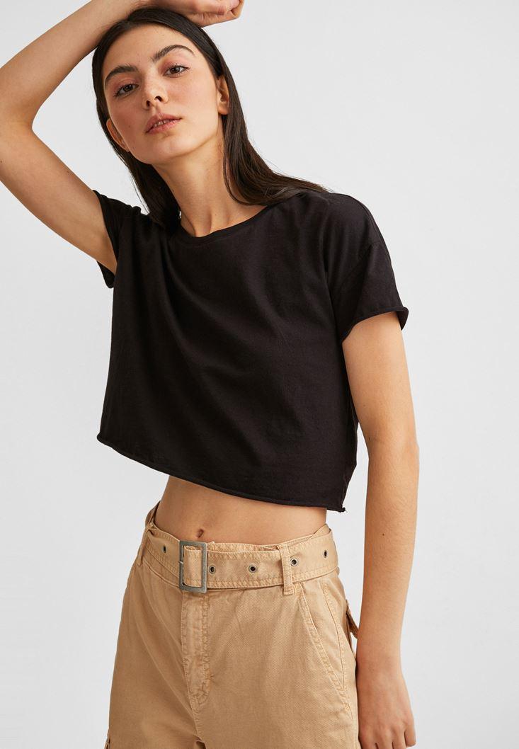 Siyah Kısa Kollu Tişört