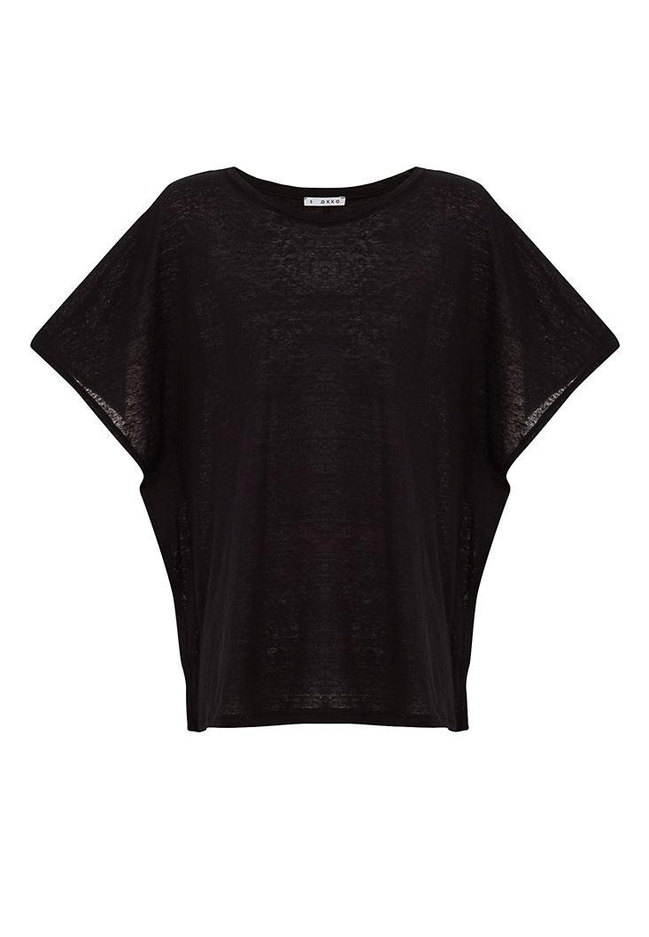 Sıfır Yaka Volanlı Tişört