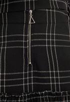 Bayan Siyah Önü Fermuarlı Mini Etek