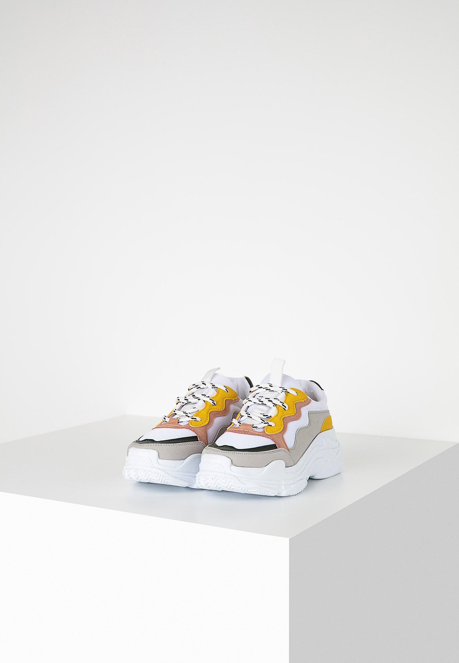 Bayan Çok Renkli Kalın Tabanlı Sneaker
