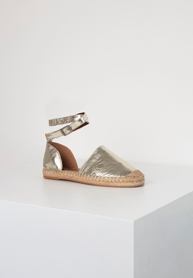Gold Shimmery Espadril