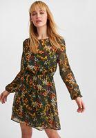 Bayan Çok Renkli Desenli Mini Elbise