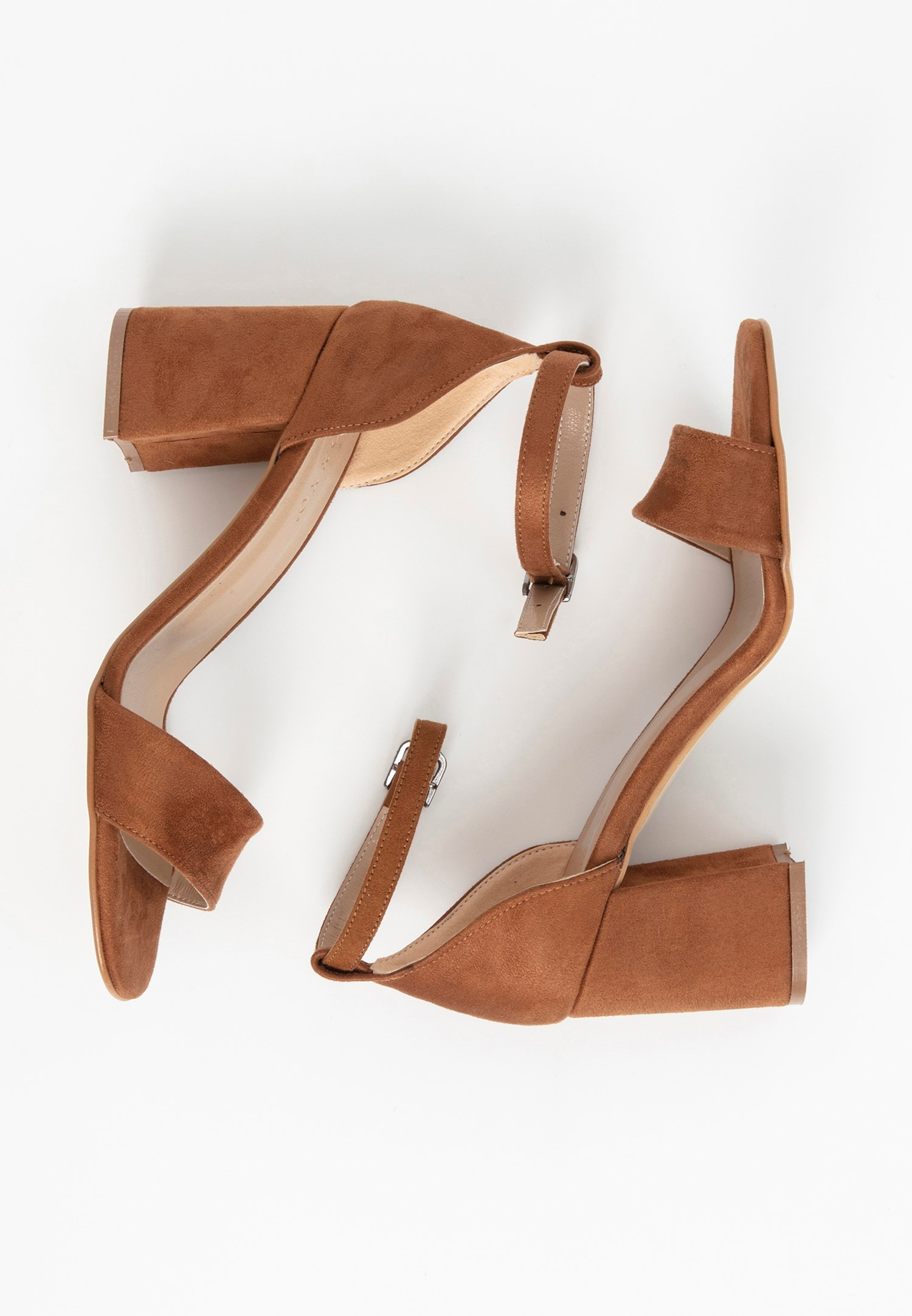 Bayan Kahverengi Tek Bantlı Topuklu Ayakkabı