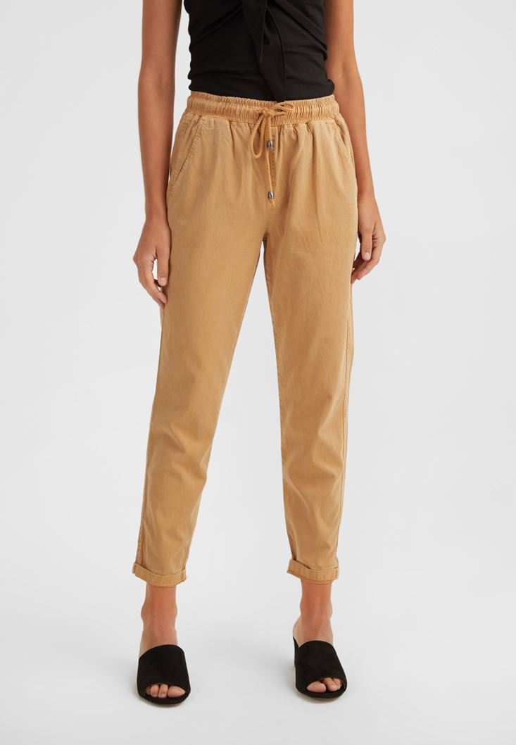 Yellow Elastic Waisted Jogger