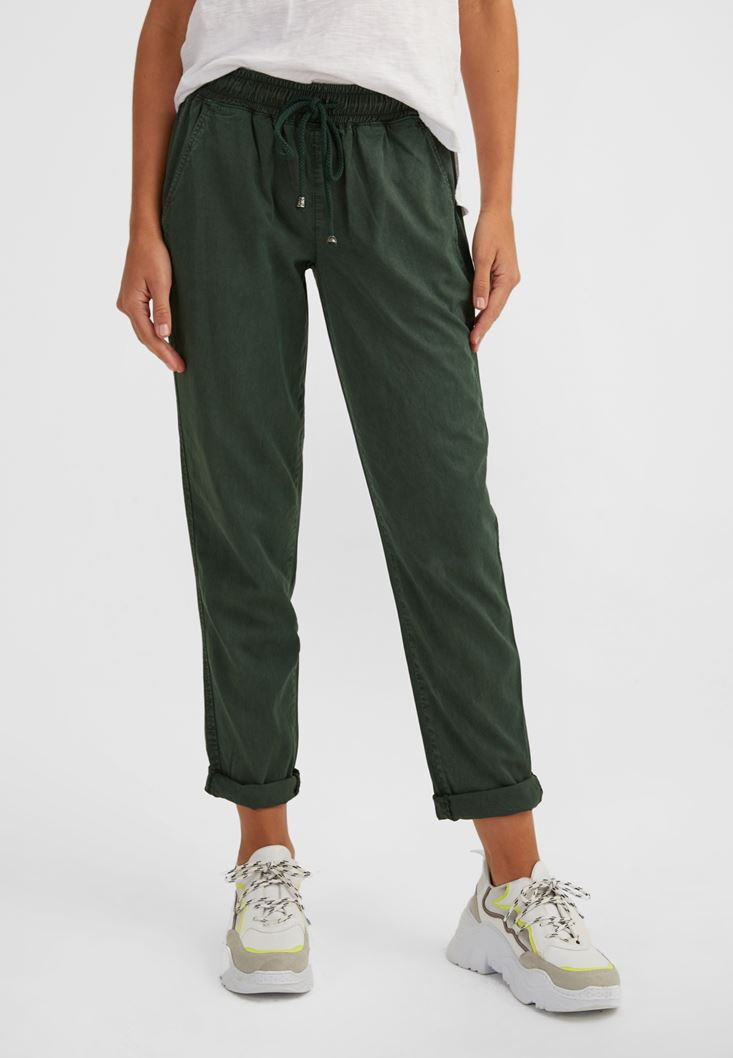Green Elastic Waisted Jogger