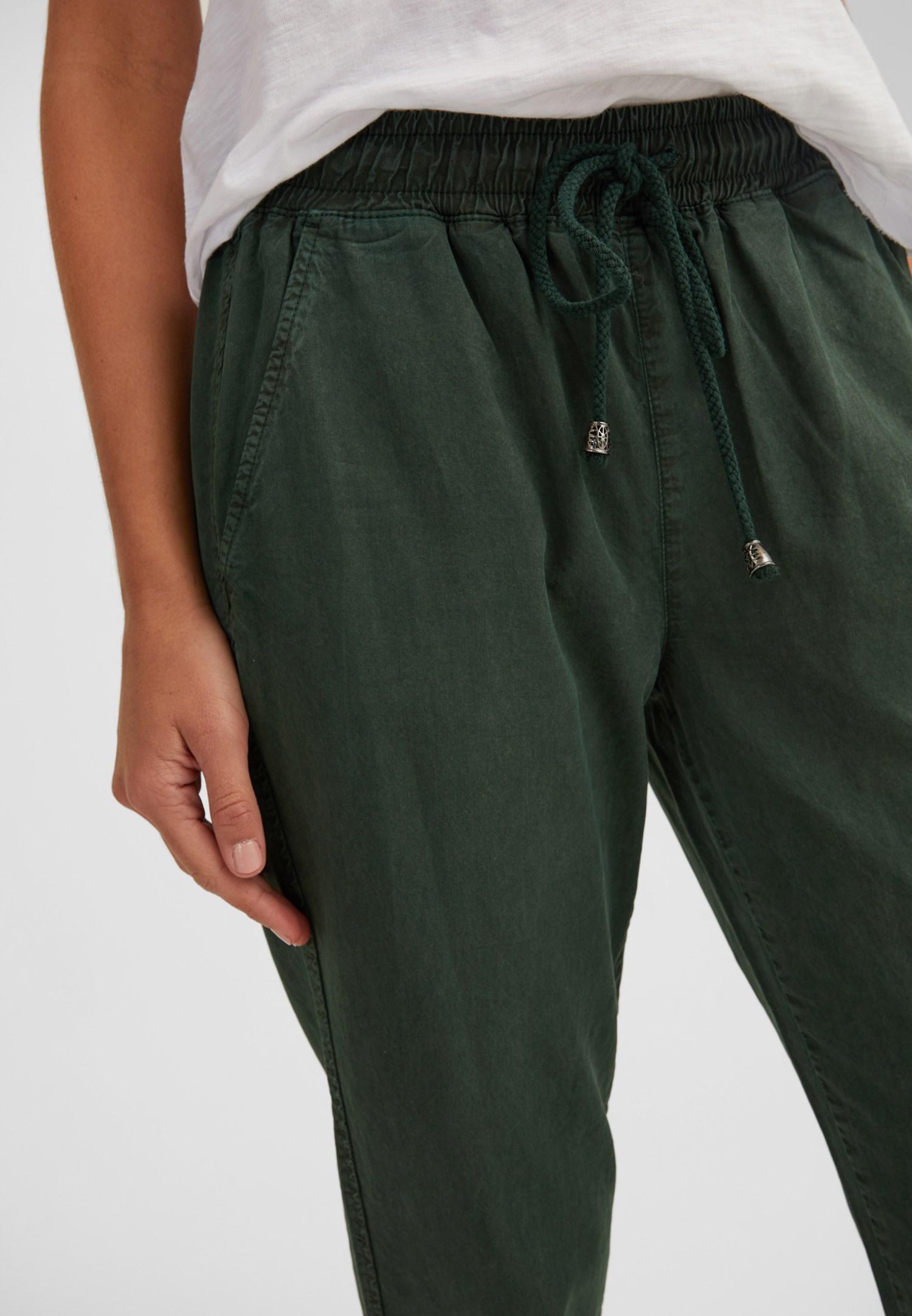 Bayan Yeşil Bağcıklı Cep Detaylı Jogger