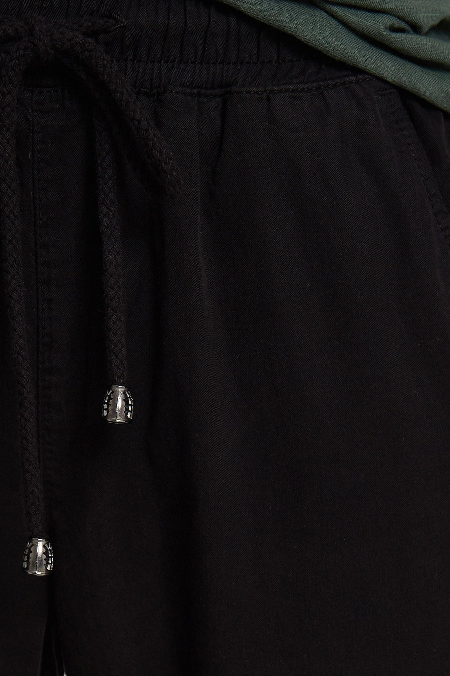 Bayan Siyah Bağcıklı Cep Detaylı Jogger