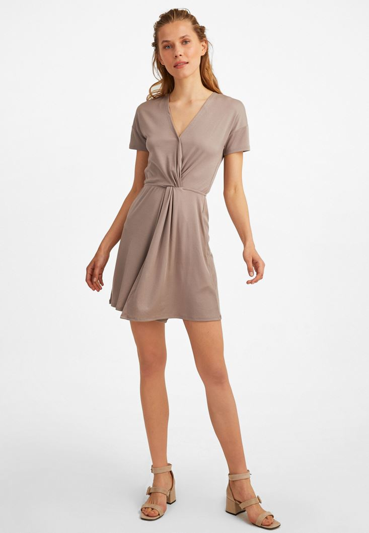 Brown Extra Soft Mini Dress