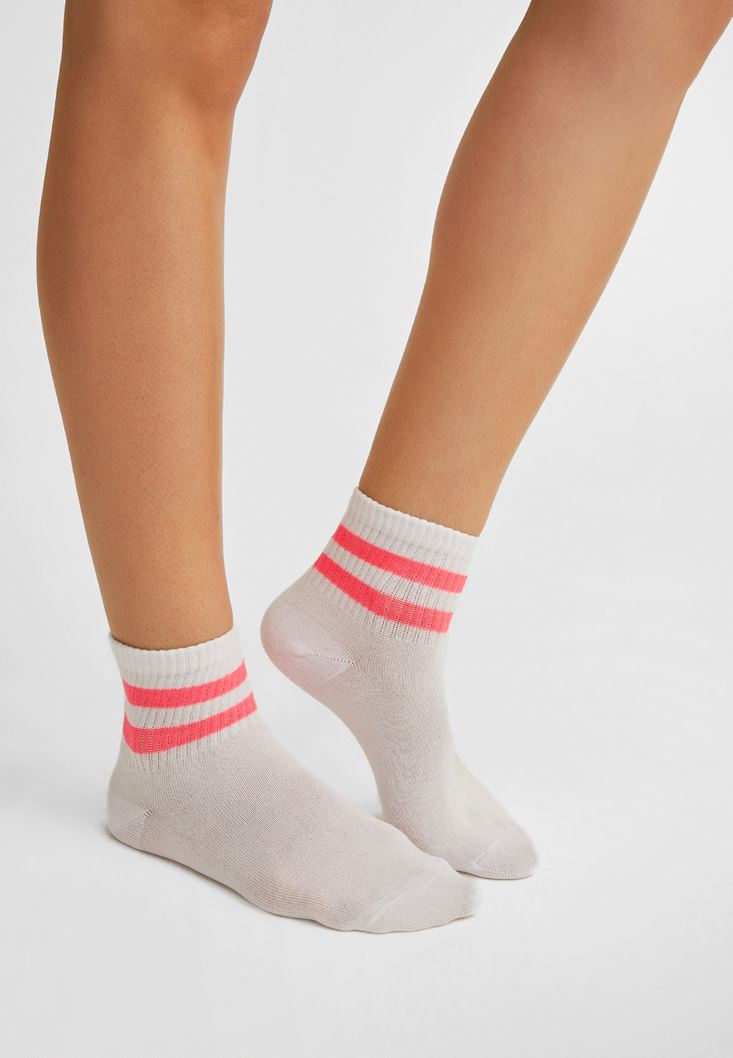 Pembe Çizgili Çorap