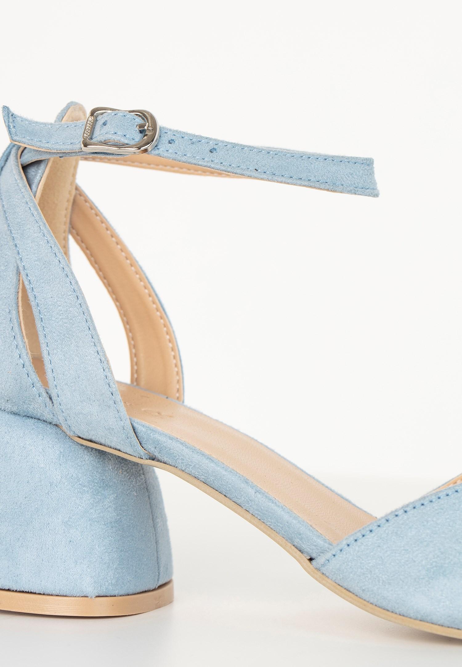 Bayan Mavi Topuklu Ayakkabı