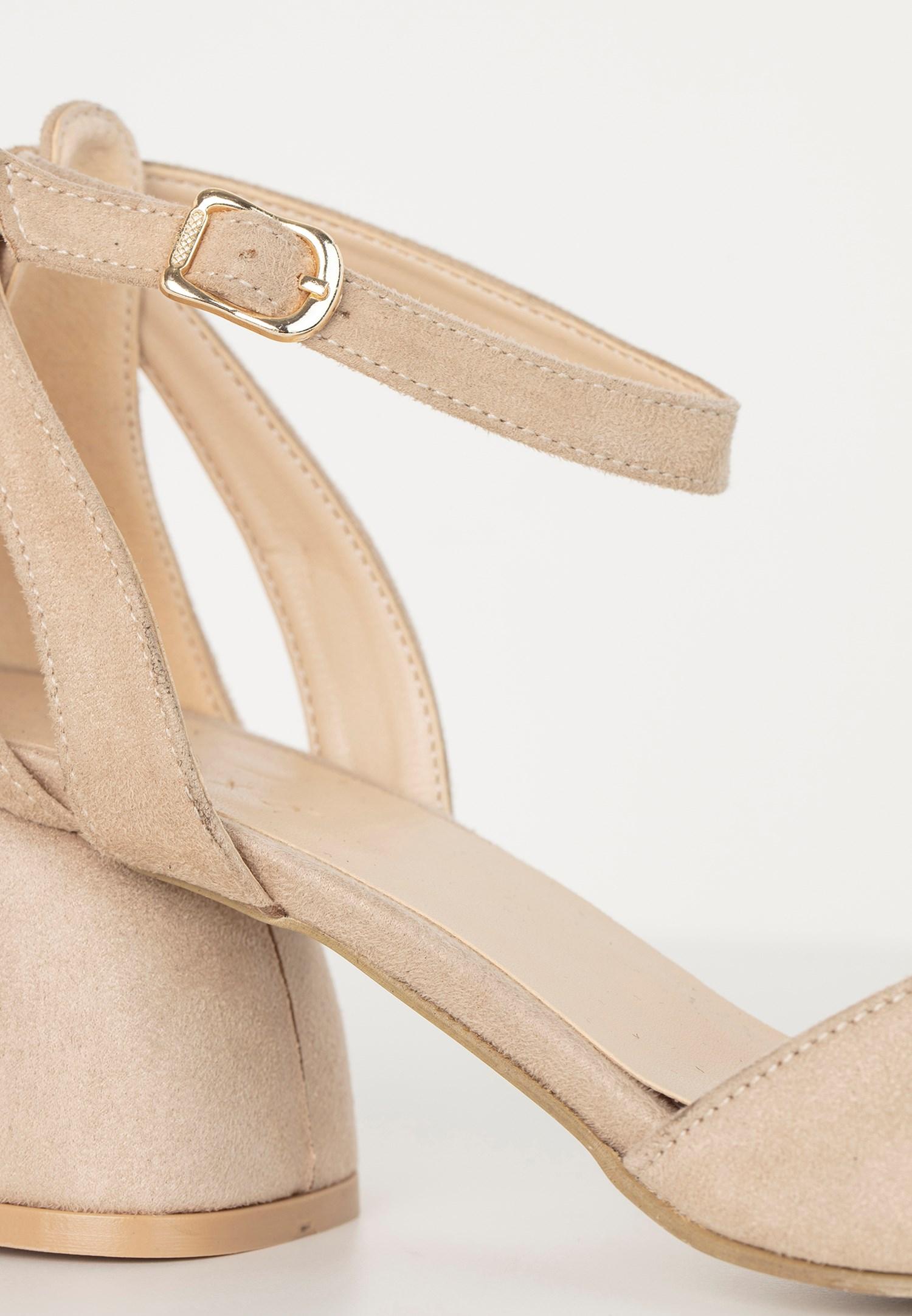 Bayan Krem Topuklu Ayakkabı
