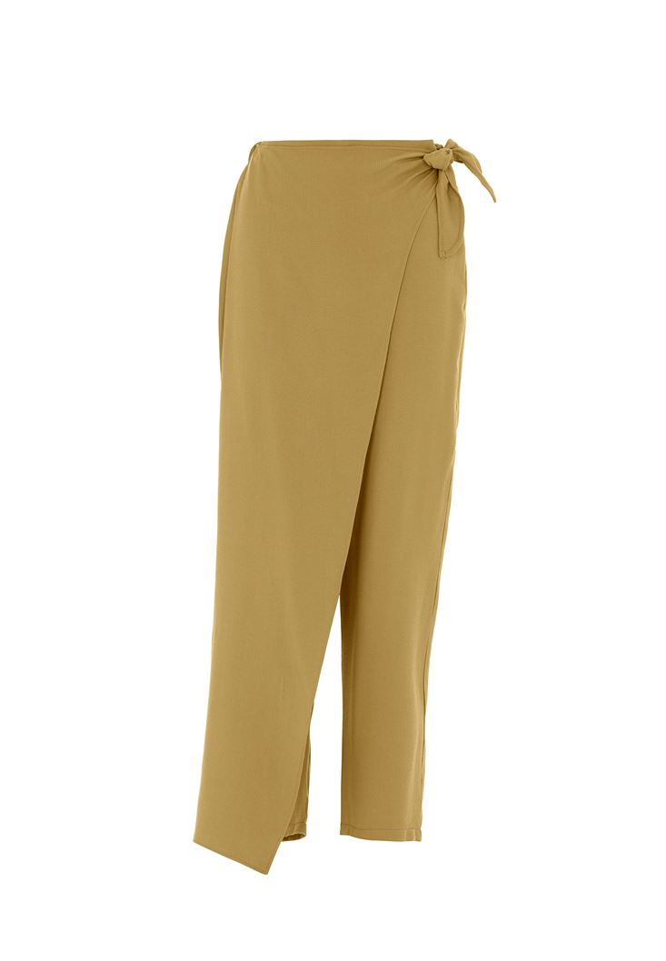 Bağlama Detaylı Bol Pantolon
