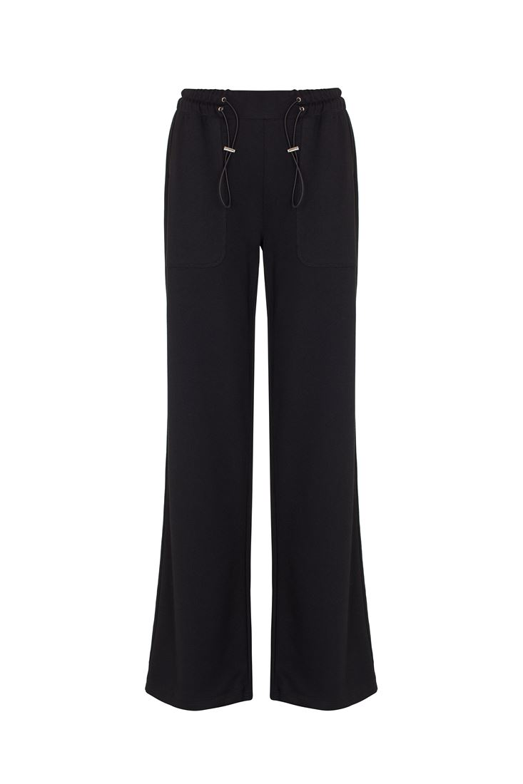 Bağcıklı Yüksek Bel Pantolon