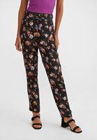 Bayan Çok Renkli Çiçek Desenli Bol Pantolon