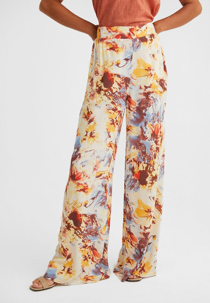 Wide Leg Trousers with High Waist