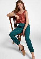 Bayan Yeşil Beli Lastikli Jogger Pantolon