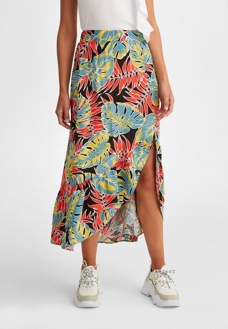 Mixed Skirt with Pattern
