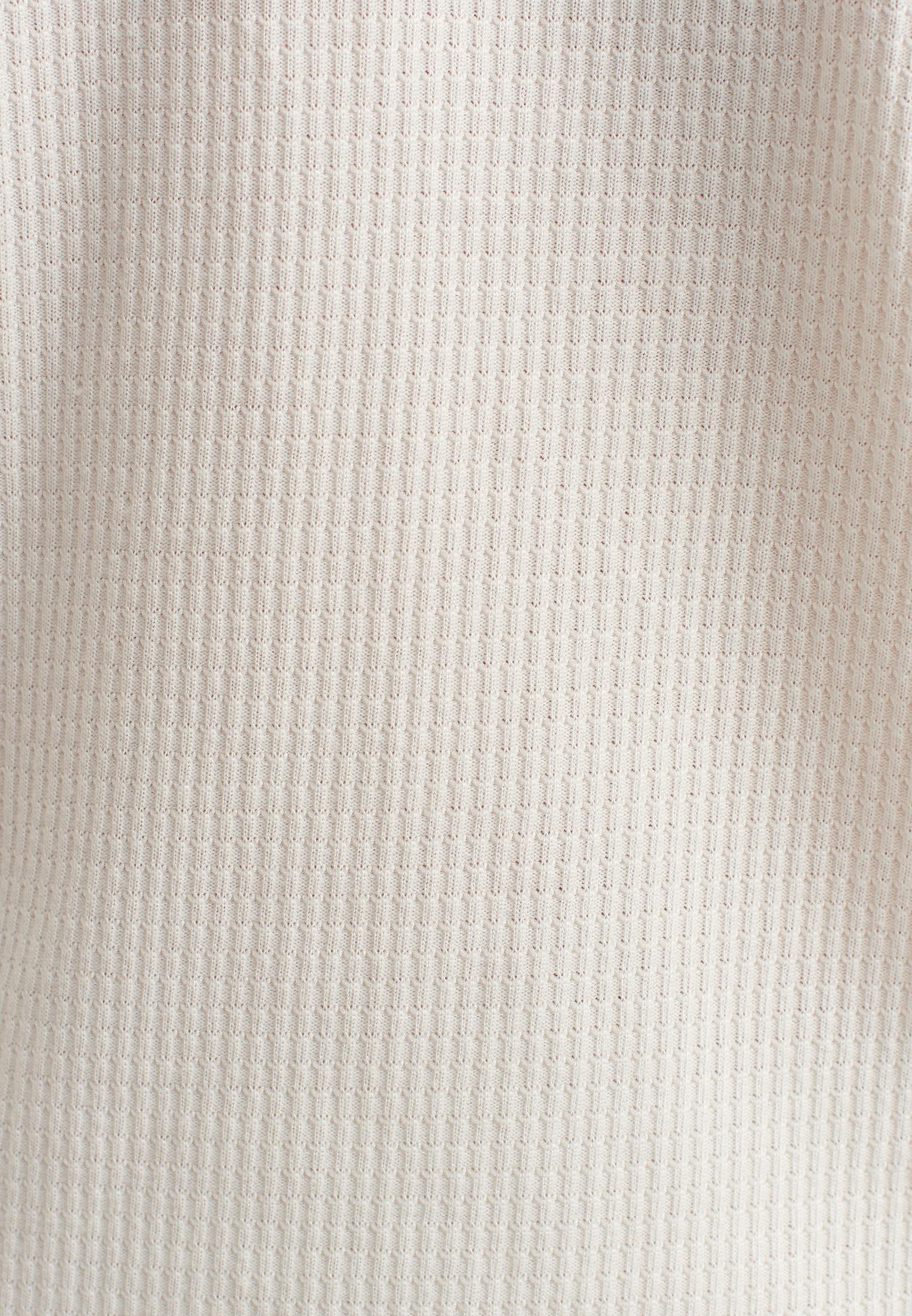 Bayan Krem Önü Bağlama Detaylı Bluz