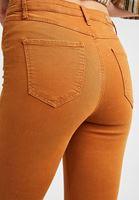 Bayan Kahverengi Yüksek Bel Pantolon