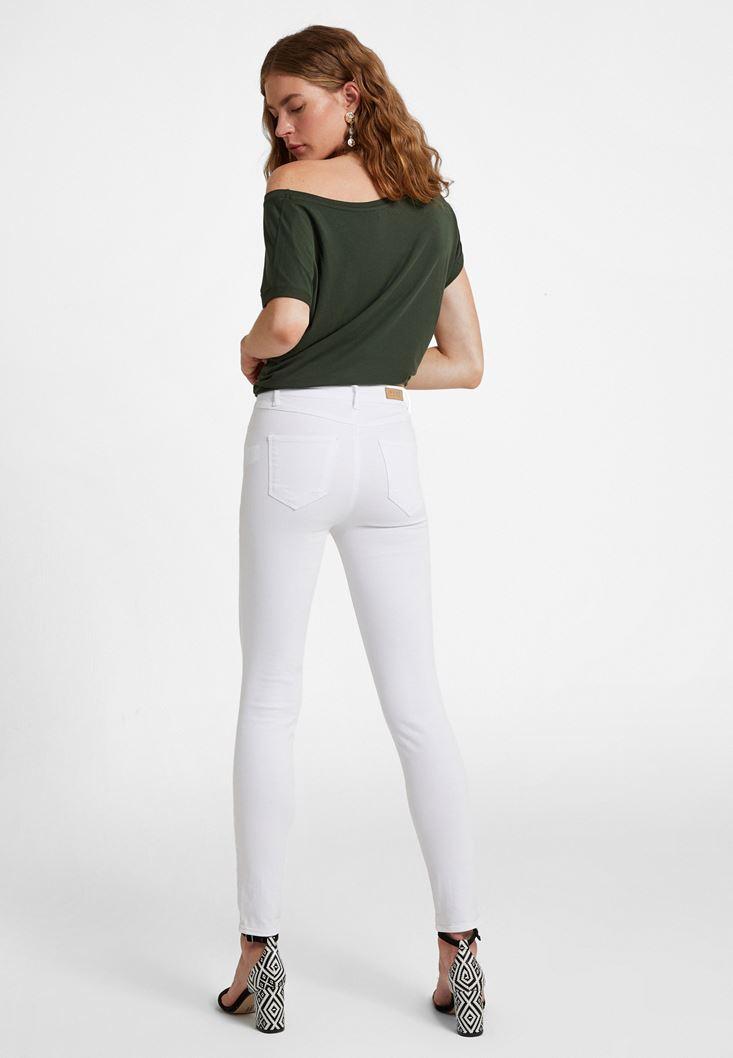 Pantolon ve Askılı Bluz Kombini