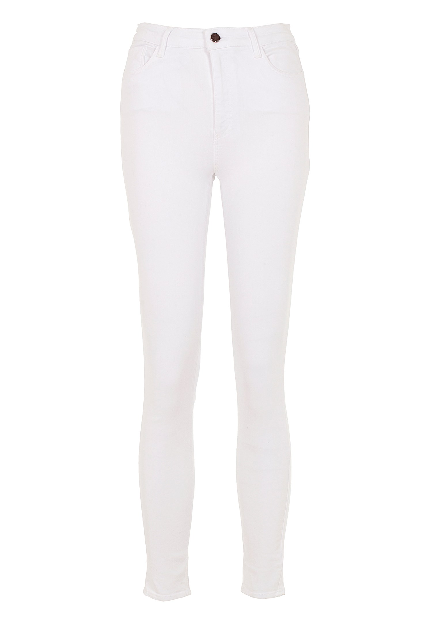 Women White High Rise Skinny Jeans