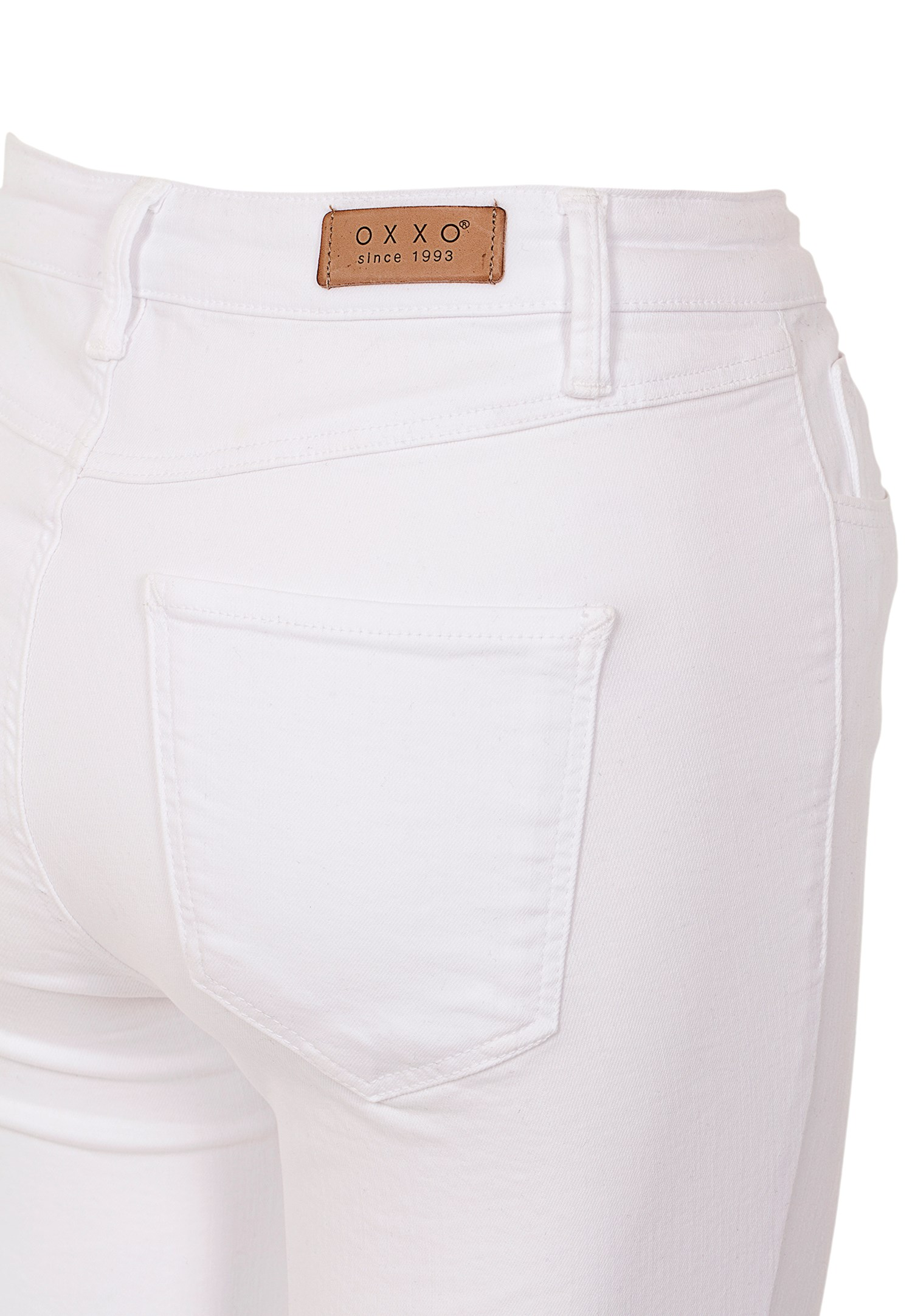 Bayan Beyaz Yüksek Bel Pantolon