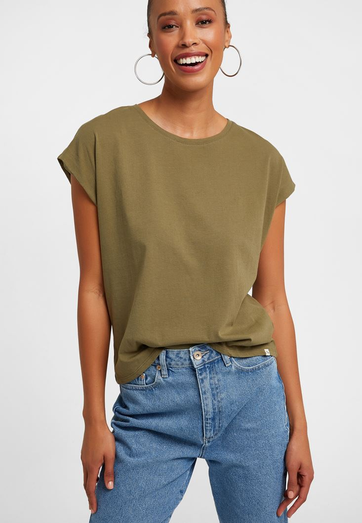 Yeşil Sıfır Yaka Tişört